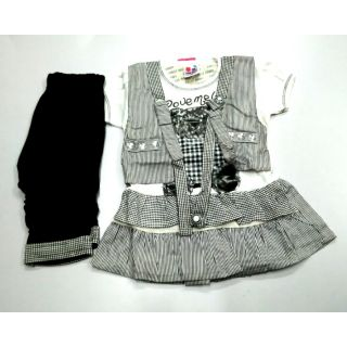 FB-7331 : GIRLS TOP WITH LEGINS ( 0.5 - 2.5 years )