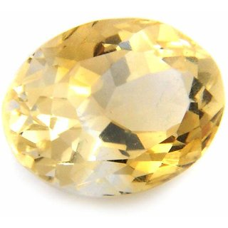 AKASH GANGA ORIGINAL 8.90 RATTI GOLDEN TOPAZ ( SUNHELA ) CERTIFIED BY DGTL