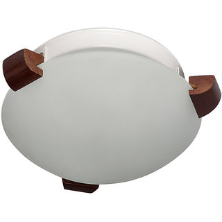 Fos Lighting Simple Ceiling Light with Wooden Clamps