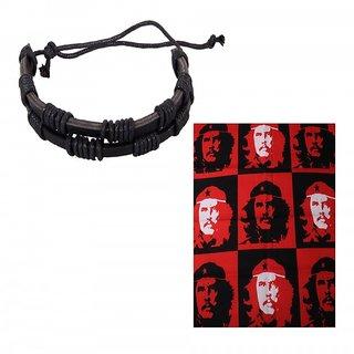 Jstarmart Black Trendy Wrist Band Combo Headwrap JSMFHWB0662