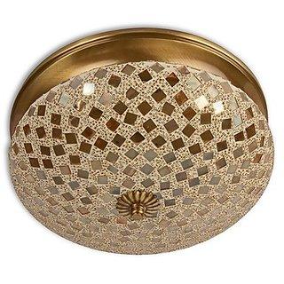 Fos Lighting Golden Mosaic Brass Ceiling Light