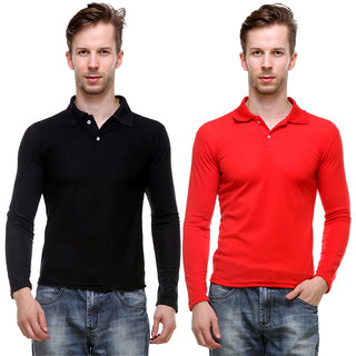 Grand Bear Pack Of 2 Polo Full Sleeve T-Shirt For Men