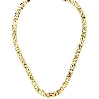 18CT GOLD AND RODIUM COATED CHAIN