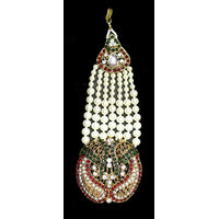 Zaveri Pearls Pearl with Red & Green Stones Passa -ZPFK2907