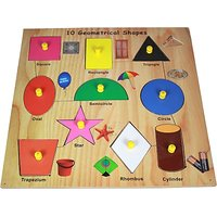 Lovely Wooden Shapes (Multicolor)