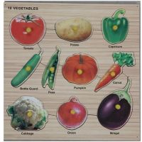 Lovely Wooden Puzzle - Vegetables (10 Pieces)