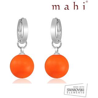 Mahi Neon Orange Earrings - S