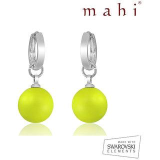 Mahi Neon Yellow Earrings - S