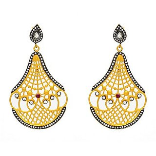 OyeSassy Delicate 925 Sterling Silver Dangle Earring With Zircon White