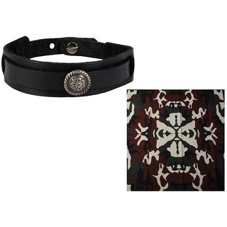 Jstarmart Black Bollywood Wrist Band Combo Headwrap JSMFHWB0677