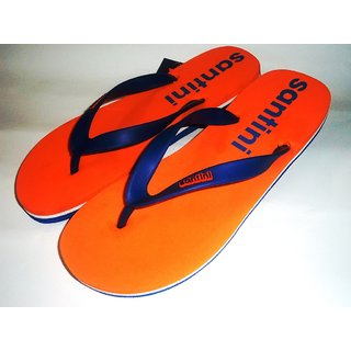 Santini Brand BLUE ORANGE SLIPPER FOR MEN