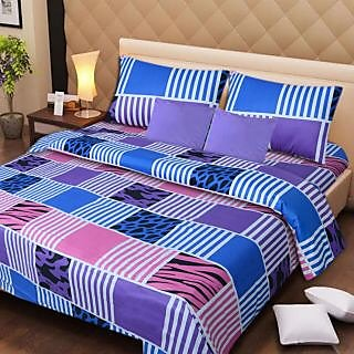 Akash Ganga Super Soft 100 Pure Cotton Bedsheet with 2 Pillow Covers