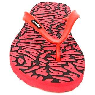 Santini Impulse Black Red Slipper for Men