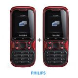 Philips E122 Dual Sim Mobile Red And Black Buy One Get One Offer