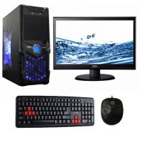 "Desktop Pc Computer Core I 5 750 2.66/4Gb/500Gb/1Gb Graphics / Atx Cabinet With 18.5"" Led"