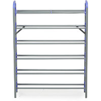 Nilkamal Redley 6 Layer Iron Shoe Rack  Blue - @ Home By Nilkamal