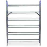 Nilkamal Redley 6 Layer Iron Shoe Rack  Blue - @ Home By Nilkamal