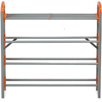 Nilkamal Redley 4 Layer Iron Shoe Rack  Orange - @ Home By Nilkamal