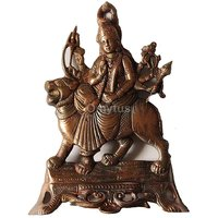 Copper Plated Goddess Durga Wall Hanging With Amazing Art Work