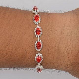 Women red american diamond bracelet