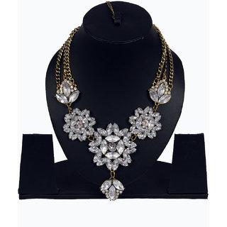Women american diamond necklace