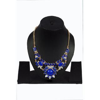 Women blue necklace