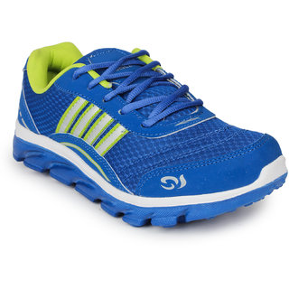 columbus mens blueyellow laceup sports shoes available at