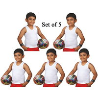 Set 5 Kids Sleeveless Vests Banians  Pack Of 5