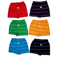 Set Of 6 Kids Cotton Multicolor Underwears