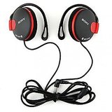 Black and Red Sony MDR-Q140 Headphones