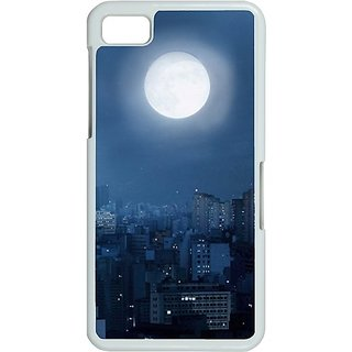 Casotec Moon View Print Design Hard Back Case Cover For Blackberry Z10