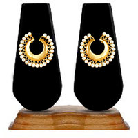 Zaveri Pearls Exquisite Chandbali Hoop Earring-ZPFK2720
