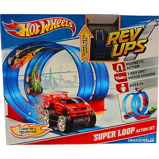 Hot Wheels Rev Ups Super Loop Action Set (Red)