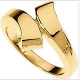 Au 18K Pure Yellow Gold Fancy Ring