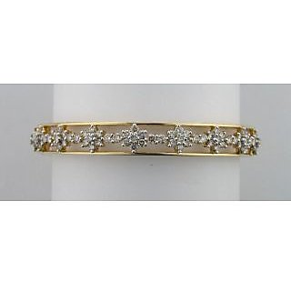 Avsar Real Gold And Diamond Pressure Set Bangle #  Avb050