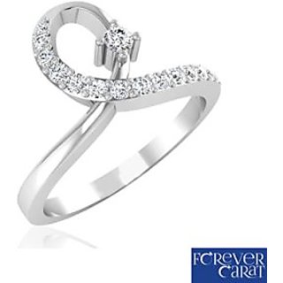 Forever Carat Real Diamond Ring In 100% Certified 925 Sterling Silver LR-0130