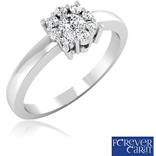 Forever Carat Real Diamond Ring In 100% Certified 925 Sterling Silver LR-0134
