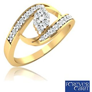 Forever Carat Real Diamond Ring In 100% Certified 925 Sterling Silver LR-0138
