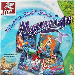 Toy Kraft Pictured in Sand  Sequins - Mermaids