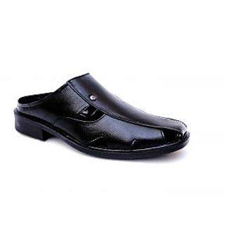 Mens Black Slip On Sandals
