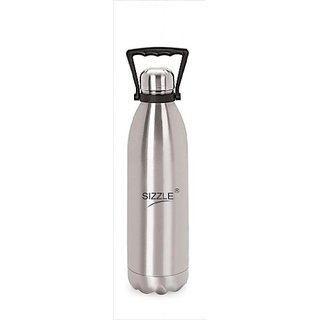 Sizzle Hot And Cold 1800 Ml Water Bottle Stainless Steel Vaccum With Handle