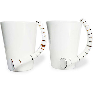 Jocular Stylish White Music Mugs-Set Of-2 1902