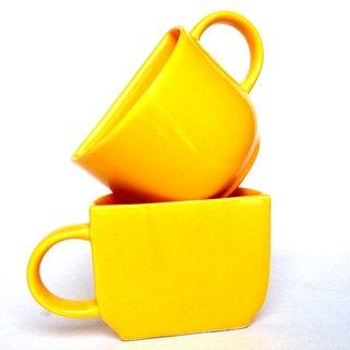 Jocular Half Half Yellow Glossy Finish Mug 1853