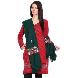 iLiv Floral Green Shawl