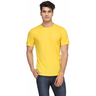 Rico sordi Yellow Solid T-Shirt For Men (RSMRNT002)
