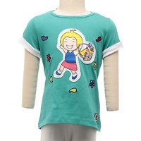 JusCubs Basket Girl Turquoise Top