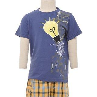 JusCubs Bulb Blue Tshirt