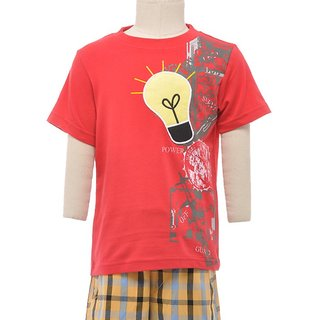 JusCubs Bulb Red Tshirt