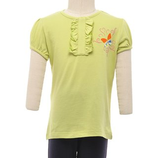 JusCubs Butterfly Embroidery Blue Top
