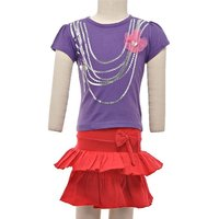 JusCubs Jazzy Chain Top With Skirt Purple Top